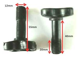 Canopy fixing Screw Bolt Full Plastic M12 screws for garden swing - ONE PAIR