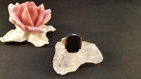 Goldring Ring 14 k 585 Rosegold  mit Onix Gr 55 4 Gramm Art Deco