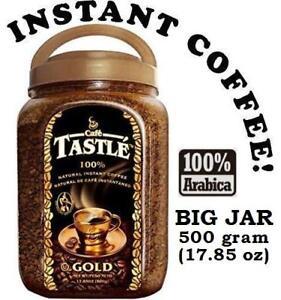 Cafe Tastle Gold Freeze Dried Kosher Instant Coffee - 500 g / 17.85 oz Big Jar