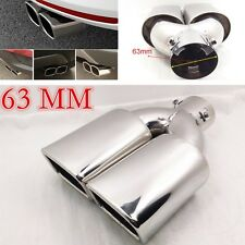 """Universal 63mm 2.5"""" Inlet Muffler Square Exhaust Pipe Tip Rear Tail Cover New"""
