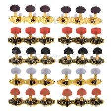 Classical Guitar Tuning Pegs Keys Machine Heads Tuners 3R3L Gold Black 5 Sets