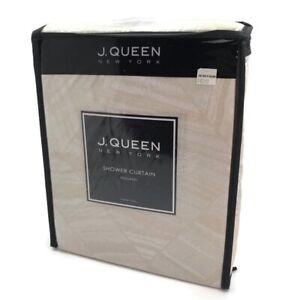 J Queen New York Holland Shower Curtain -  Holland Ivory Fabric Shower Curtain