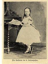 Kinderbildnis der Kaiserin Auguste Victoria im 6.Lebensjahr ( Druck von 1906 )