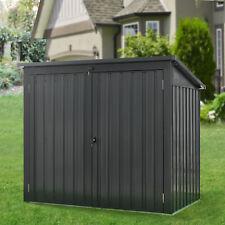 Juskys Genk Metall Mülltonnenbox mit 2 abschließbaren Türen - Grau