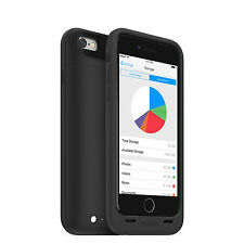 mophie space pack Battery Case with 32GB Storage for iPhone 6s/6 (3,300mAh) - Bl