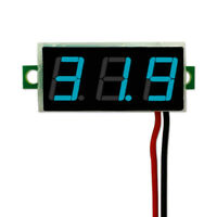 Mini DC 2.5-30V Voltmeter LED Panel 3-Digital Display Volt Voltage Meter 2 wires