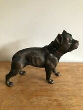 More details for bronze effect pit bull terrier sculpture brand new in box 60144