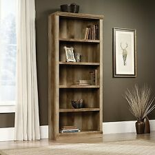 Sauder 417223 East Canyon Bookcase With Five Shelf In Craftsman Oak Finish New