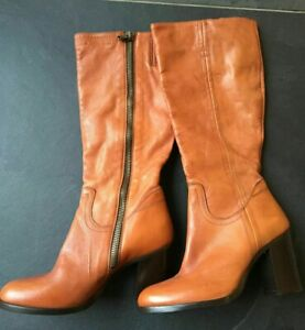 Paul Smith Mainline Burnished TAN Leather Boots UK 6 EU 39  Made in Italy