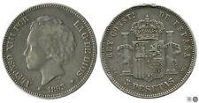 España 5 pesetas 1893  PGV Ag BC / F Alfonso XIII 00149