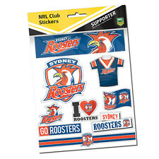Sydney Roosters NRL LOGO Car Sticker Stickers Sheet Man Cave Birthday Gift