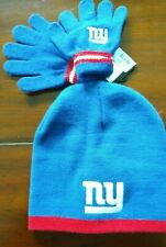 Brand New New York Giants Toddler Hat & Glove Set One Size