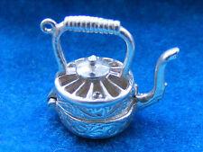 Vintage plata esterlina encanto hervidor de agua se abre a una tetera