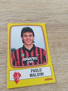 Album Figurine Calciatori Panini 1985 86 Maldini Rookie  N 154 Milan New Velina