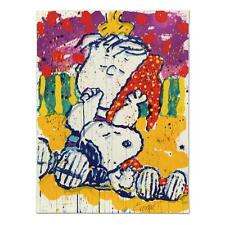 "TOM EVERHART's ""WHO PLACED THE WAKE UP CALL"" SNOOPY LINUS LE LITHOGRAPH SOLD OUT"
