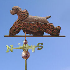 American Cocker Spaniel Hand Carved Hand Painted Basswood Dog Weathervane Brown