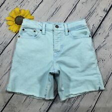 Levi's High Rise Wedgie Shorts Womens Size 25/2 Stretch Light Blue Denim at3644