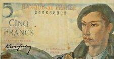 5 francs 1943-1945 Type Berger France Banknote #F6#