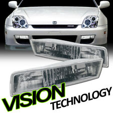 Euro Chrome Clear Front Turn Signal Parking Bumper Lights Yd 97-01 Honda Prelude