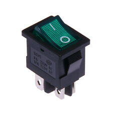 Interrupteur à Bascule 12V On-Off Vert Lumineux 21x15mm