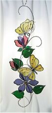 Stain Glass Yellow Butterfly Scroll
