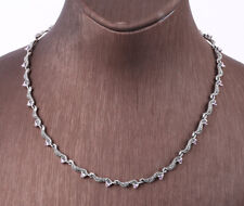 MARCASITE TOPAZ .925 SOLID STERLING SILVER NECKLACE #22892
