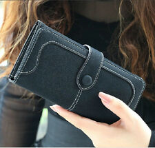 Monedero mate Costura Mujer embrague Bolso mano Cartera billetera Clutch handbag