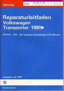 VW Bus T3 - Reparaturleitfaden - 1,9L Vergaser Systeme