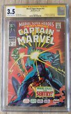 Marvel Super Heroes #13 1app Carol Danvers (cgc3.5)/signed by Stan Lee