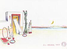 "Dimitris C. Milionis ""GREEK AEGEAN II"" Signed Pencil Study Drawing 2007 Greek"