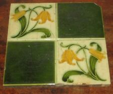 ART NOUVEAU PILKINGTON TILE QUATERFOIL DESIGN SHABBY CHIC