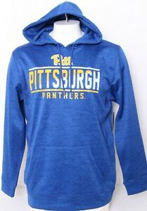NEW Pittsburgh Pitt Panthers Colosseum Hooded Hoodie Pullover Sweatshirt Men's L