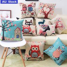 Square Cushion  Animal Print Linen Pillow Bed Sofa Home Decor Novelty Gift
