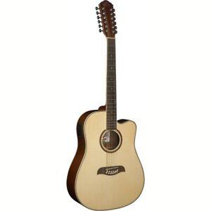 Oscar Schmidt OD312CE Dreadnought 12-String Acoustic Electric Guitar, Natural