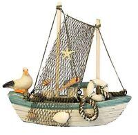 Wooden Fishing Boat Ornament