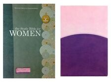 The Study Bible for Women, Lavender/Blush Leather Touch Indexed (2015, Holman)