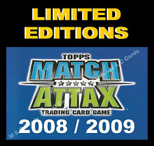 Match Attax 2008/09 08/09 LIMITED EDITION / 100 CLUB Cards Premier League EXTRA