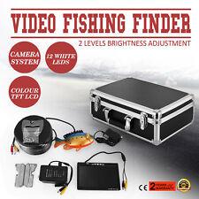 "60m 7"" LCD Fish Finder Screen Underwater Fishing Video Camera Boat 250cd/m2 12V"