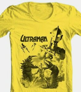 Ultraman T-shirt 80s Saturday morning cartoon anime superhero gold cotton tee