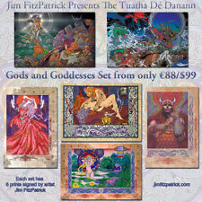 "Celtic Gods and Goddesses. 6 Art Prints by Jim FitzPatrick. A4 11""x8"""