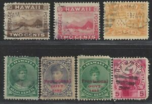 Collection of Possession Stamps From Hawaii