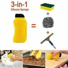 Multifunction Magic Silicone Sponge Clean Dish Washing Cleaning Scrubber Brush
