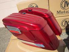 Burgundy Red Hard Saddlebag fits most HondaSABRE VTX VALKYRIE SPIRIT MAGNA AERO