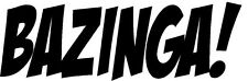 Bazinga vinyl decal Big Bang Theory TBBT tv show bumper sticker Jim Parsons