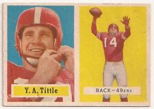 1957 Topps #30 Y.A. TITTLE San Francisco 49ers EX+ Football Card - Free S/H
