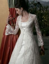 Casablanca Wedding Dress with Lace Overcoat NWT