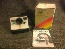 Polaroid 1000 Land Camera - Uses SX-70 Film Green Button Boxed With Instructions