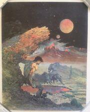 "Vintage 1970's Frank Frazetta ""Wolf Hunt"" Fairfax Poster Boris Vallejo Sci-Fi"