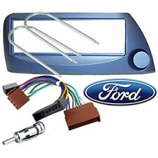 Kit montage Cadre de radio 1 DIN Ford Ka blue cable iso + adaptateur d'antenne e