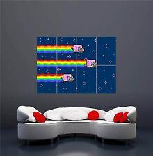 Nyan Cat arco iris volando espacio Pared Gigante Nuevo de píxeles de impresión de arte poster OZ372